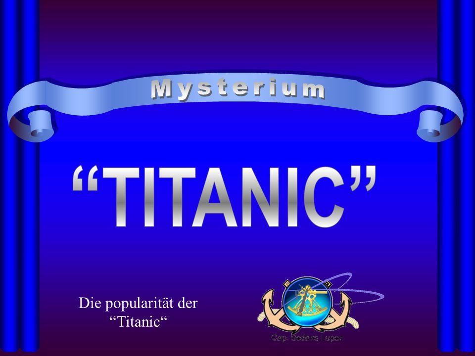 Gründe für die Popularität des Untergangs der Titanic Titelseite eines zeitgenössischenGroschenheft es (um 1913) Der Untergang der Titanic ist in zahlreichen Romanen, Sachbüchern und Filmen verarbeitet worden.