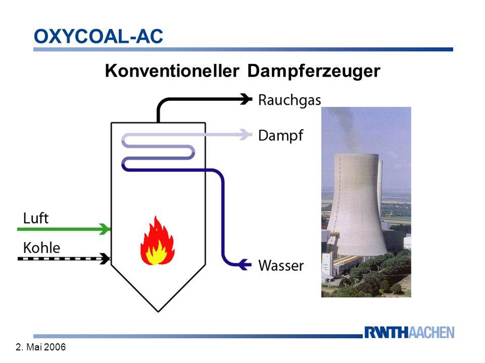 OXYCOAL-AC 2. Mai 2006 Konventioneller Dampferzeuger
