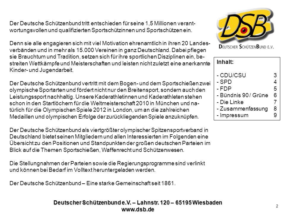 Deutscher Schützenbund e.V.– Lahnstr.