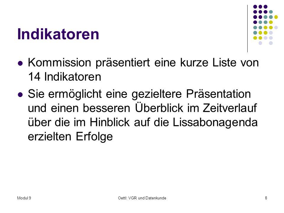 Modul 9Oettl: VGR und Datenkunde39 10.