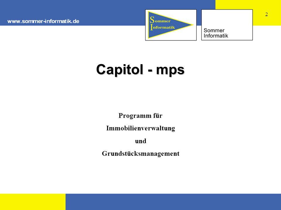 Capitol - mps Programm für Immobilienverwaltung und Grundstücksmanagement 2