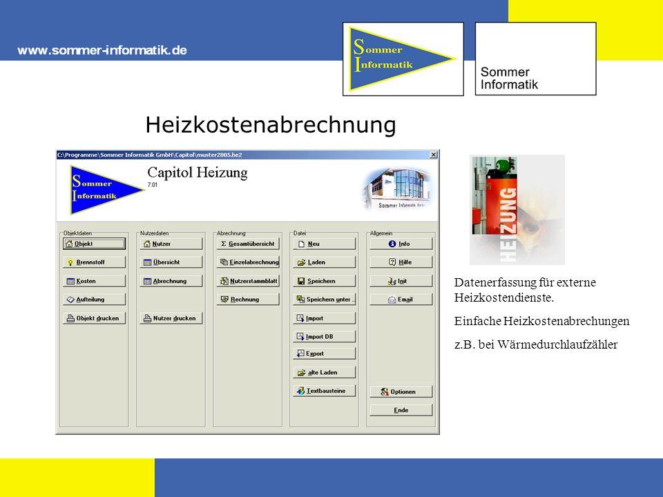 Heizkostenabrechnung Datenerfassung für externe Heizkostendienste.