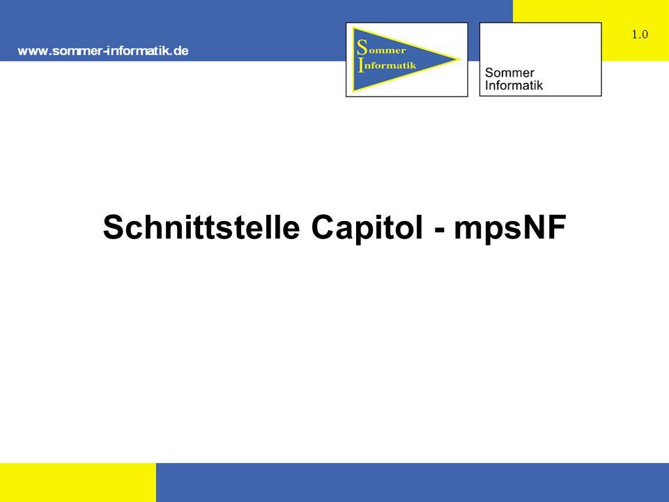 Schnittstelle Capitol - mpsNF 1.0