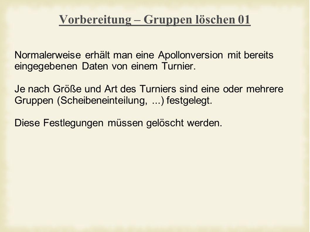 Planung – Scheibenbelegung 08 Achtung: Jetzt muss bei aktivierter 2.
