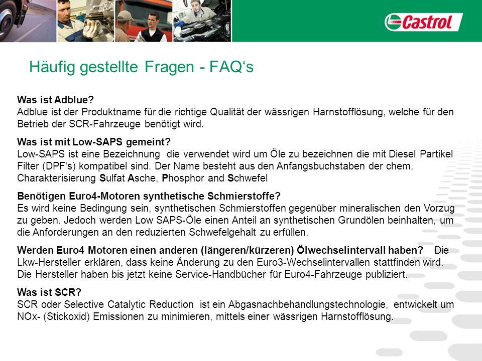 Häufig gestellte Fragen - FAQs Was ist Adblue? Adblue ist der Produktname für die richtige Qualität der wässrigen Harnstofflösung, welche für den Betr