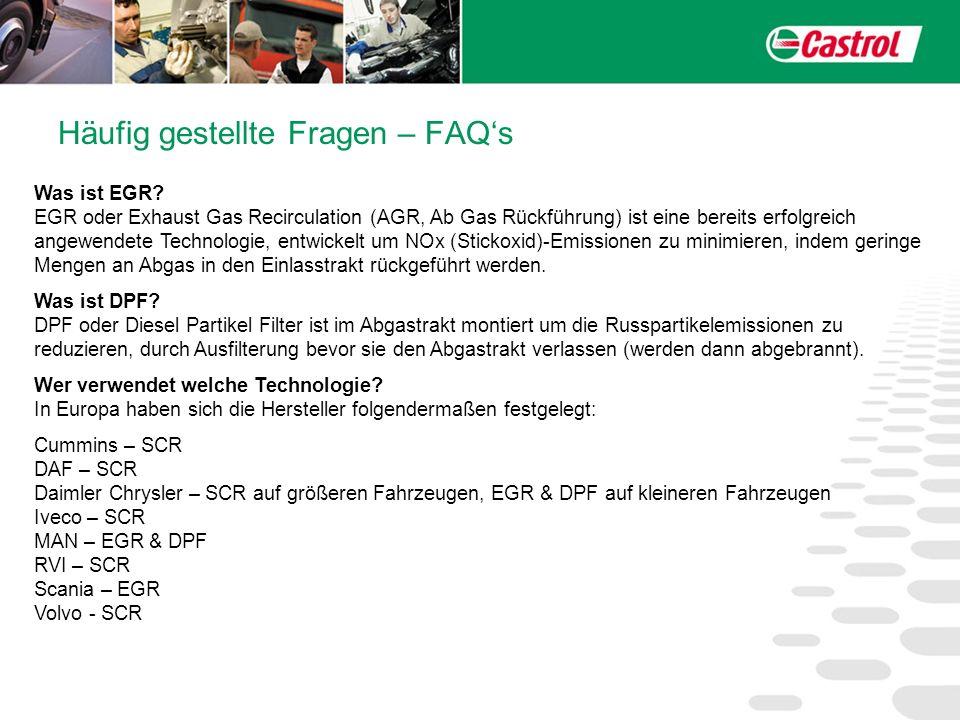 Häufig gestellte Fragen – FAQs Was ist EGR? EGR oder Exhaust Gas Recirculation (AGR, Ab Gas Rückführung) ist eine bereits erfolgreich angewendete Tech