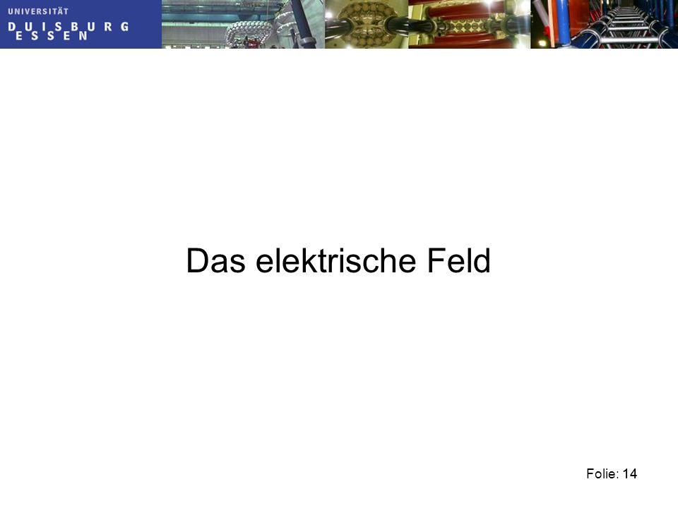 Folie: 1414 Das elektrische Feld