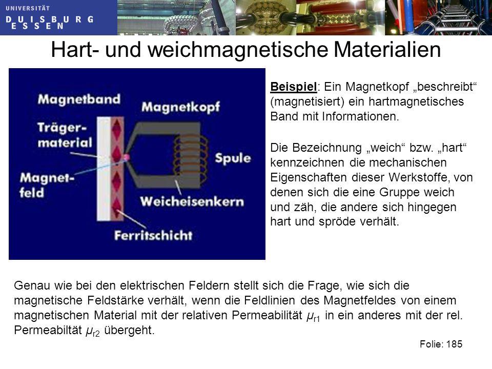 Hart- und weichmagnetische Materialien Die Bezeichnung weich bzw.