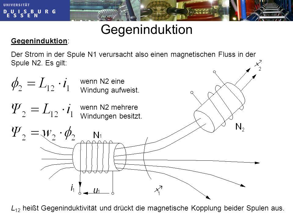 L 12 heißt Gegeninduktivität und drückt die magnetische Kopplung beider Spulen aus.