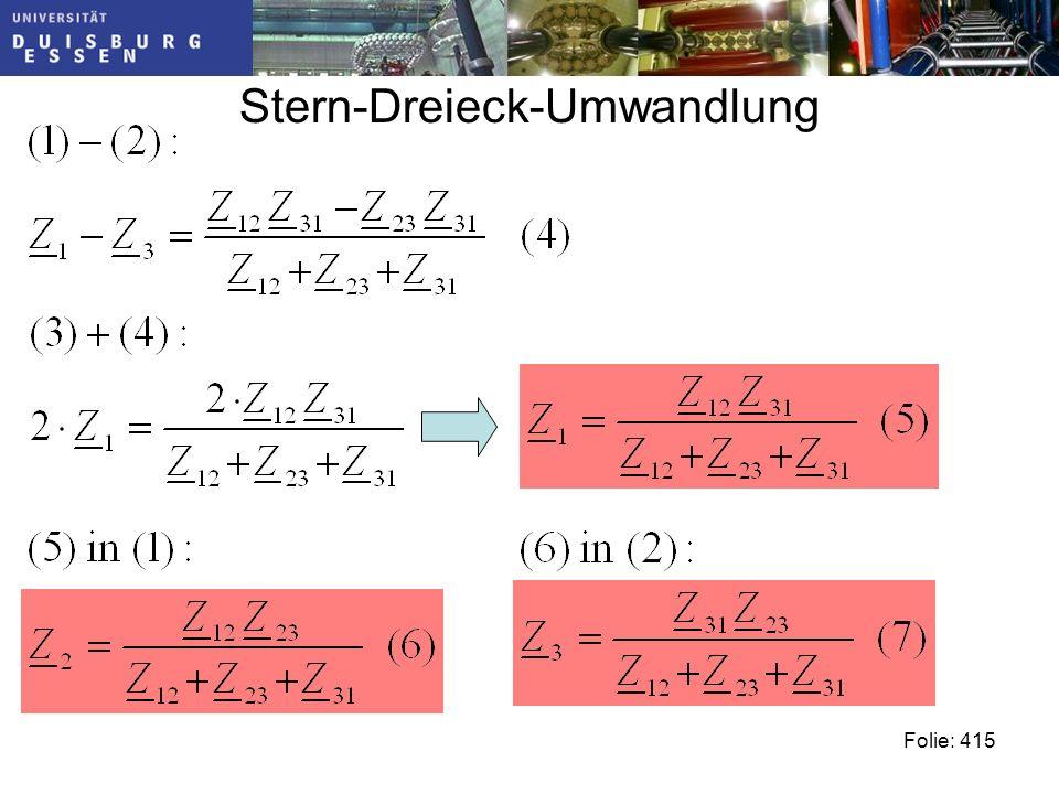 Stern-Dreieck-Umwandlung Folie: 415