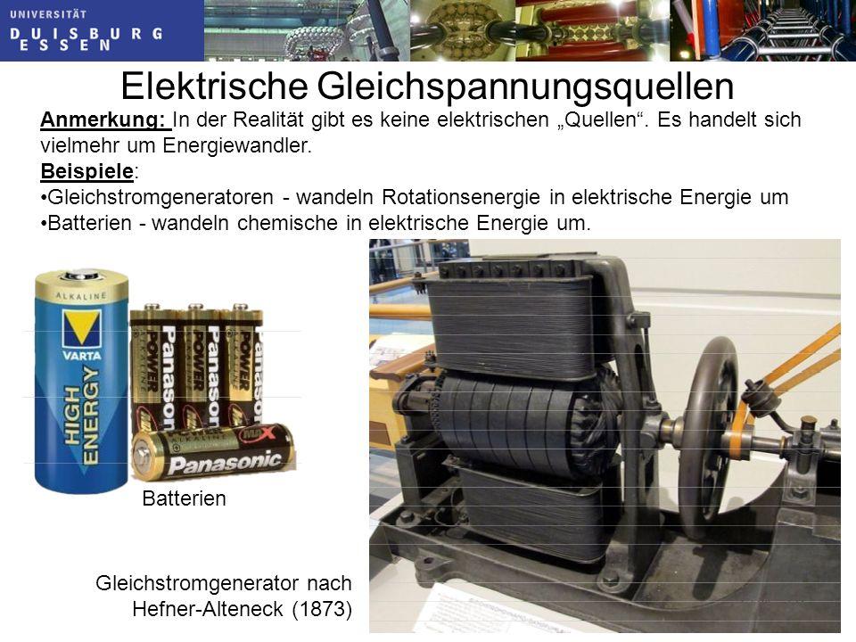 Folie: 79 Elektrische Gleichspannungsquellen Anmerkung: In der Realität gibt es keine elektrischen Quellen.