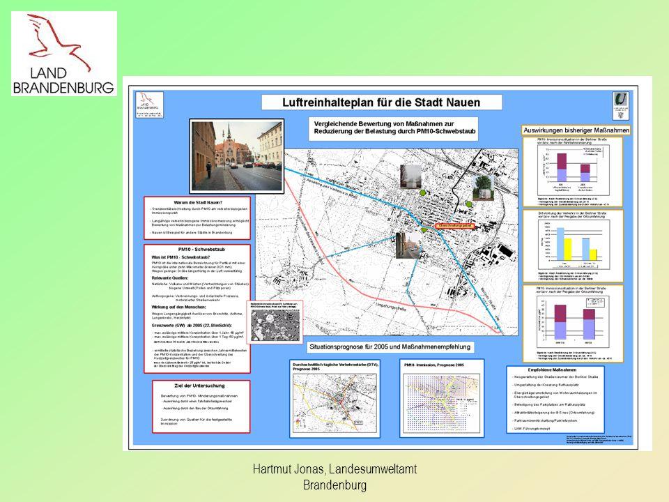 PM10-Immissionssituation in Nauen vor bzw.
