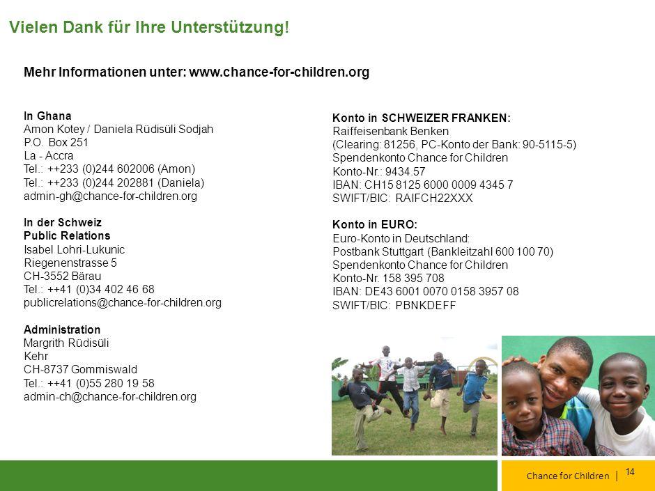 | Chance for Children Ziele für 2011 Kinder in Familien Reintegration in die Familien, weiterführende Betreuung und Unterstützung Verbesserung der Qua