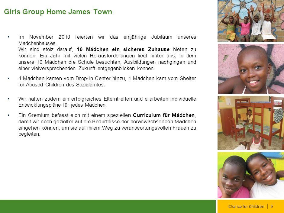 | Chance for Children Girls Group Home James Town Im November 2010 feierten wir das einjährige Jubiläum unseres Mädchenhauses.