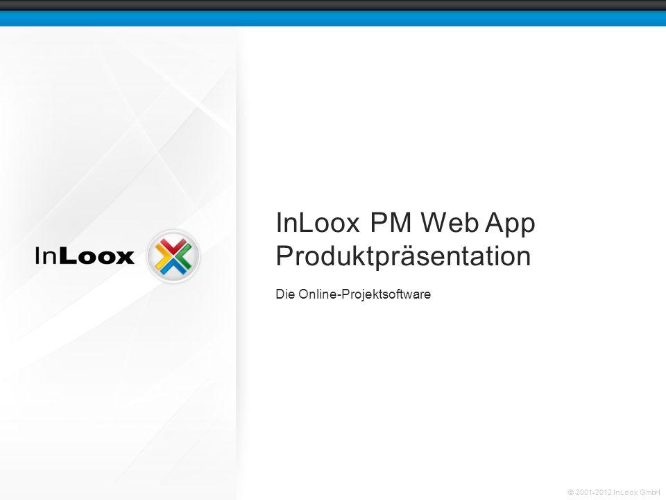 © 2001-2012 InLoox GmbH InLoox PM Web App Produktpräsentation Die Online-Projektsoftware