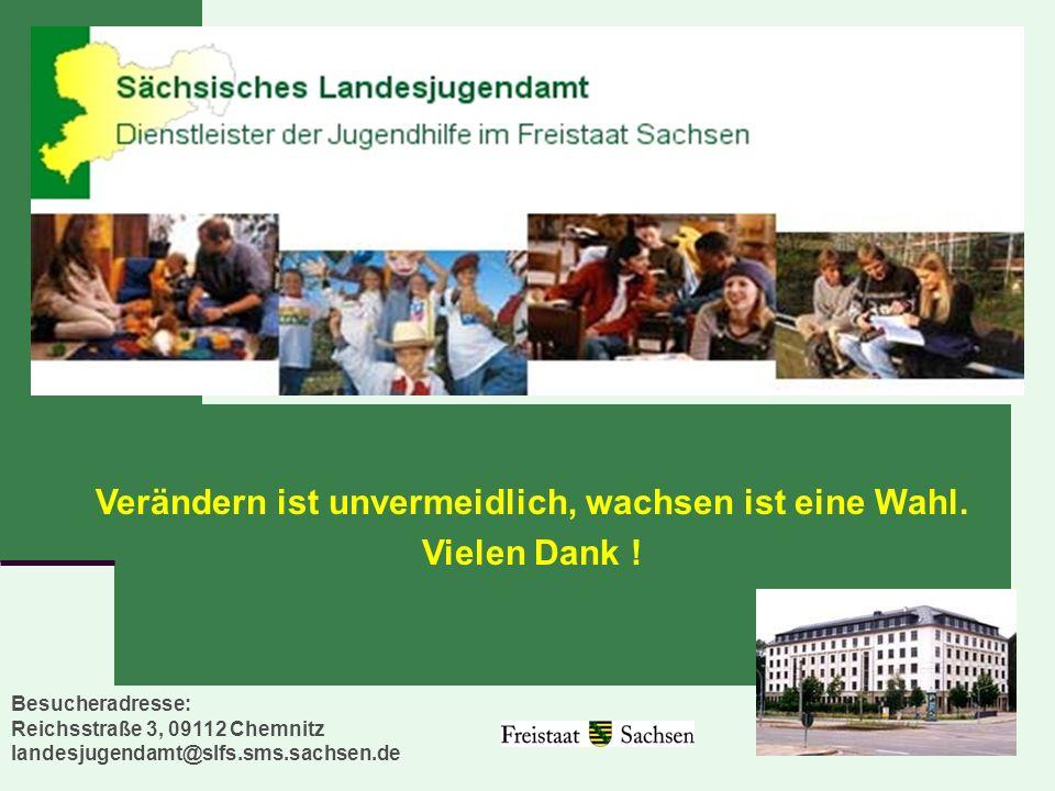 14 Besucheradresse: Reichsstraße 3, 09112 Chemnitz landesjugendamt@slfs.sms.sachsen.de Verändern ist unvermeidlich, wachsen ist eine Wahl. Vielen Dank