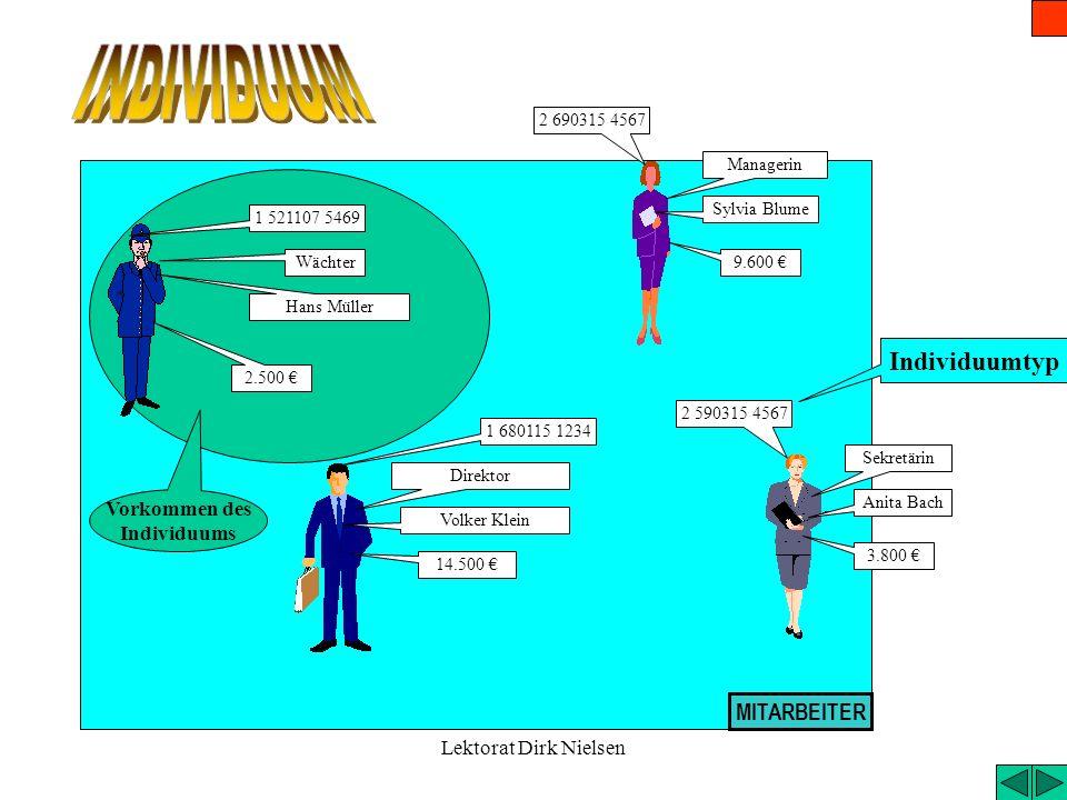 Lektorat Dirk Nielsen Objekte des Wirtschaftssystems, die mit Daten beschrieben werden. Alle Faktoren des Wirtschaftssystems (Sachen, Menschen, Ereign