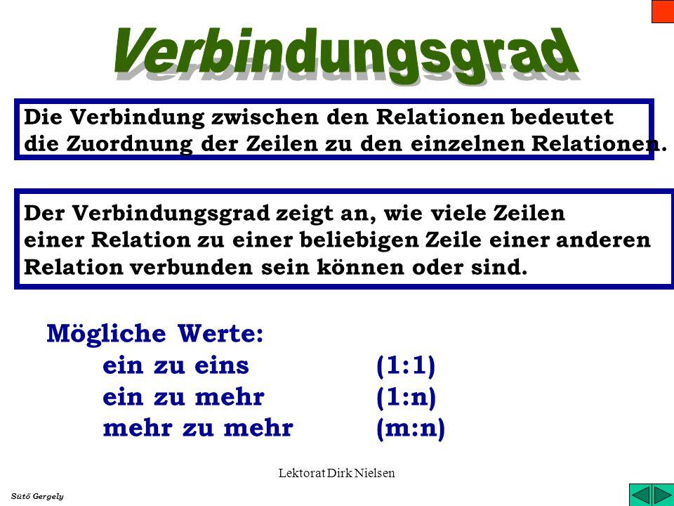Lektorat Dirk Nielsen Was ist das Problem? Aus Werten einiger Felder müssen mehrere zu einer Zeile zugeordnet werden, deswegen lässt sich die Relation