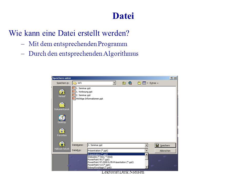 Lektorat Dirk Nielsen Besteht aus verschiedenen Datentypen Name und Typ der Elemente (Felder) müssen angegeben werden Die Tupel-Elemente sind auch ein
