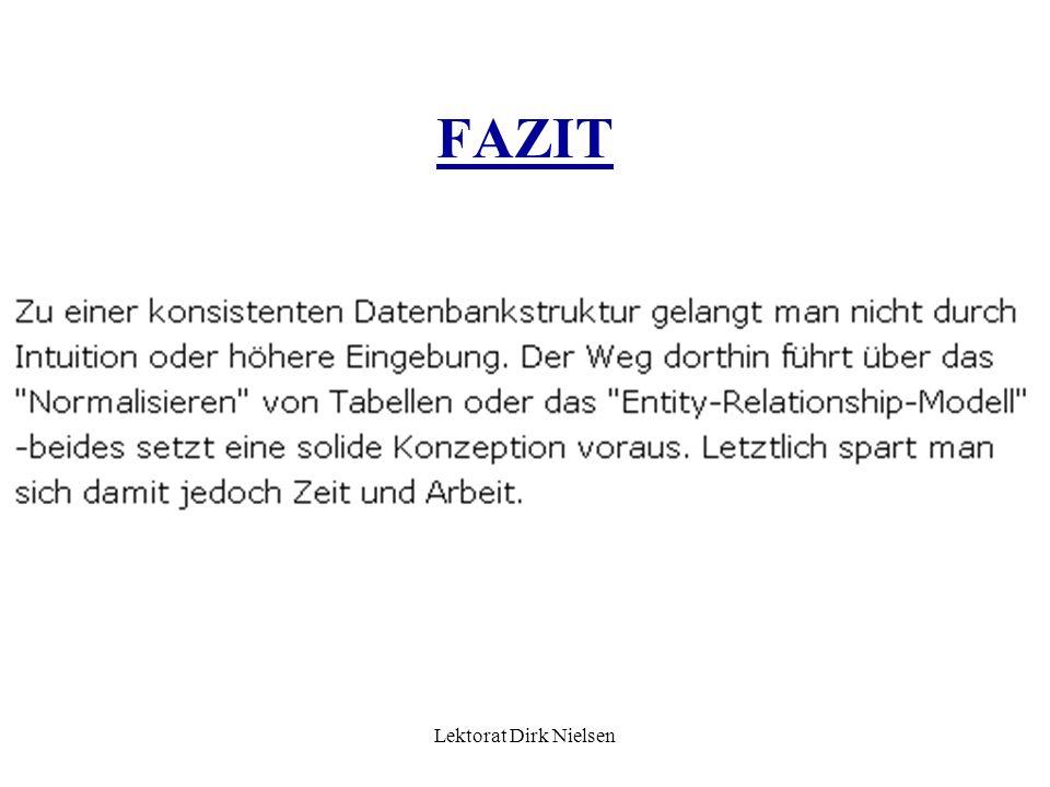 Lektorat Dirk Nielsen FAZIT
