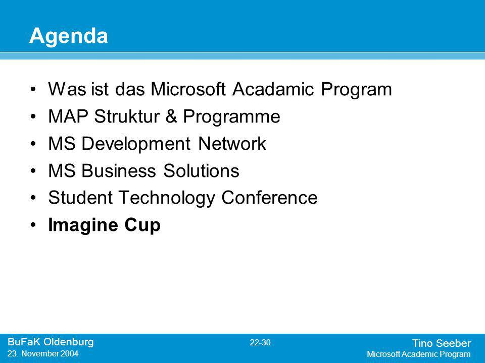 Tino Seeber Microsoft Academic Program BuFaK Oldenburg 22-30 23.
