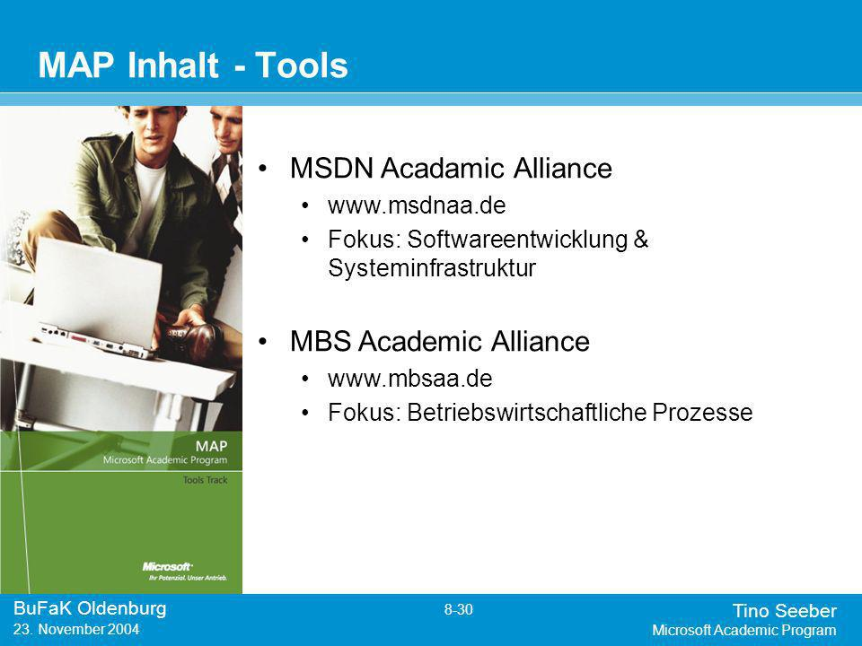 Tino Seeber Microsoft Academic Program BuFaK Oldenburg 8-30 23.