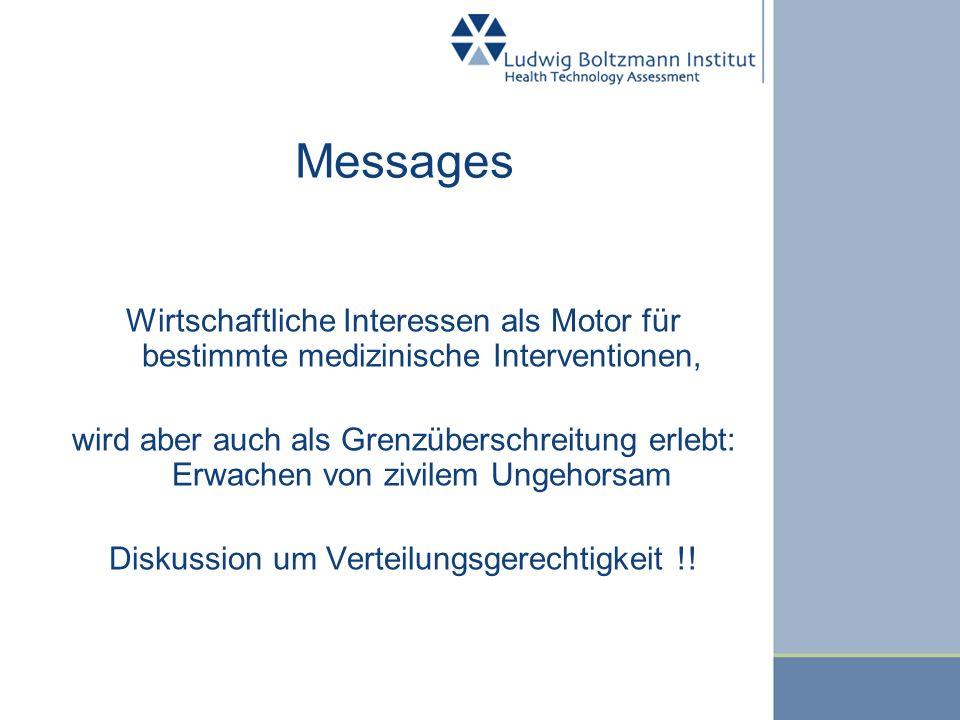 Messages Wirtschaftliche Interessen als Motor für bestimmte medizinische Interventionen, wird aber auch als Grenzüberschreitung erlebt: Erwachen von z