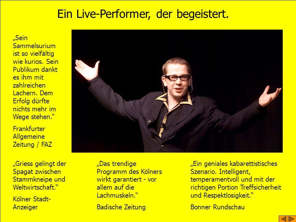 Ein Live-Performer, der begeistert. Sein Sammelsurium ist so vielfältig wie kurios.