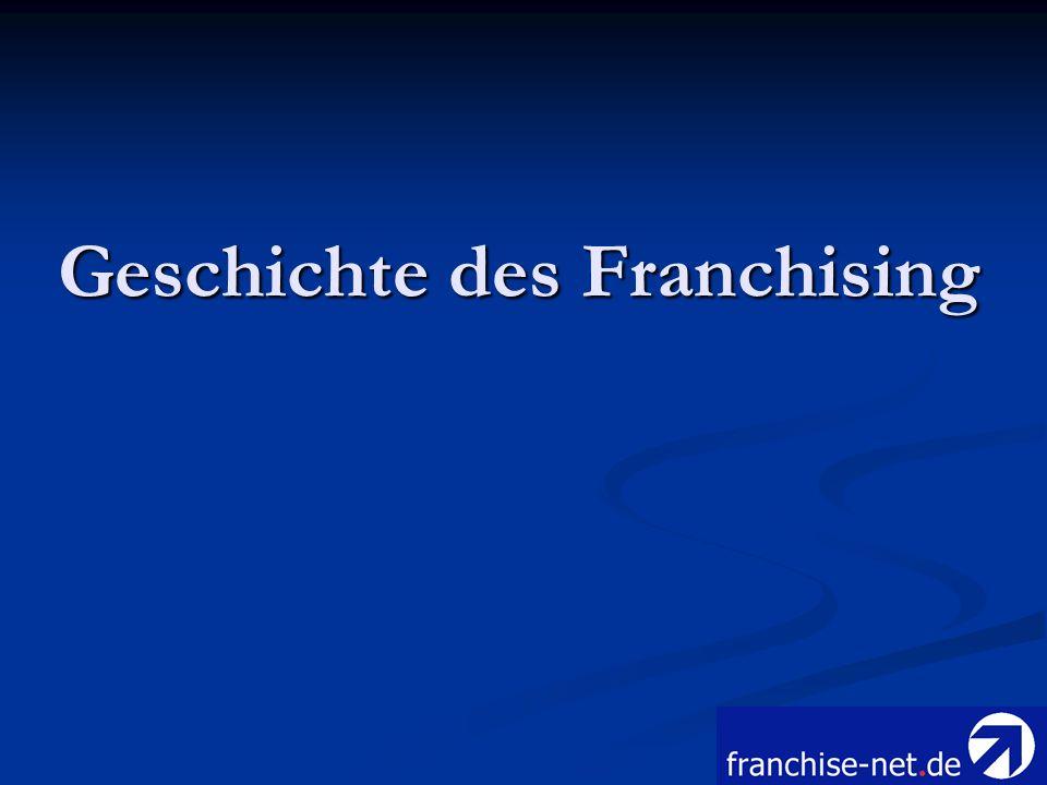 Geschichte des Franchising