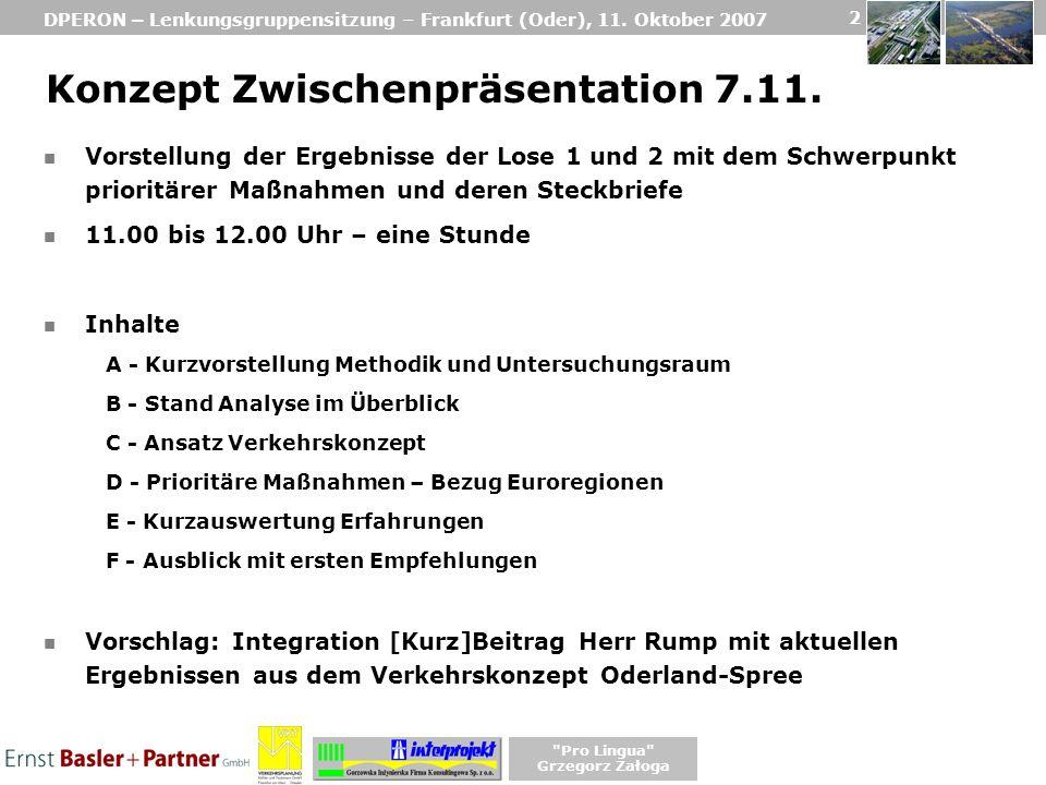 DPERON – Lenkungsgruppensitzung – Frankfurt (Oder), 11.