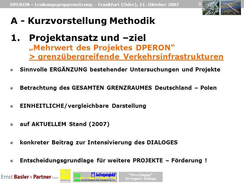 DPERON – Lenkungsgruppensitzung – Frankfurt (Oder), 11. Oktober 2007
