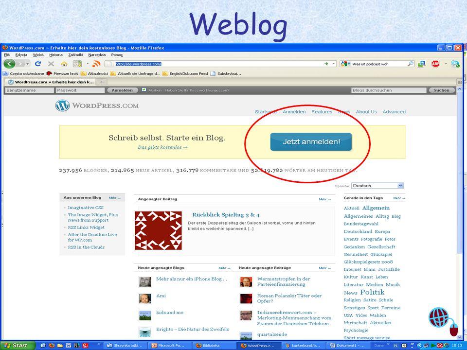 Justyna Sobota- Den Unterricht beleben mit Web2.0 9 Weblog
