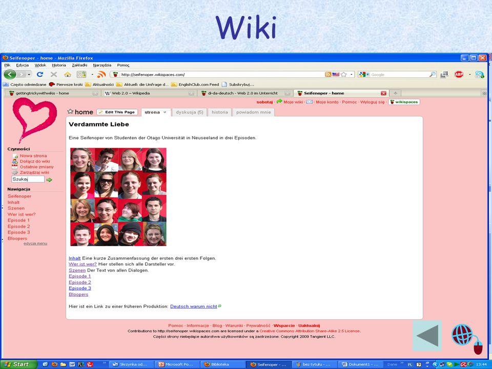 Justyna Sobota- Den Unterricht beleben mit Web2.0 5 Wiki