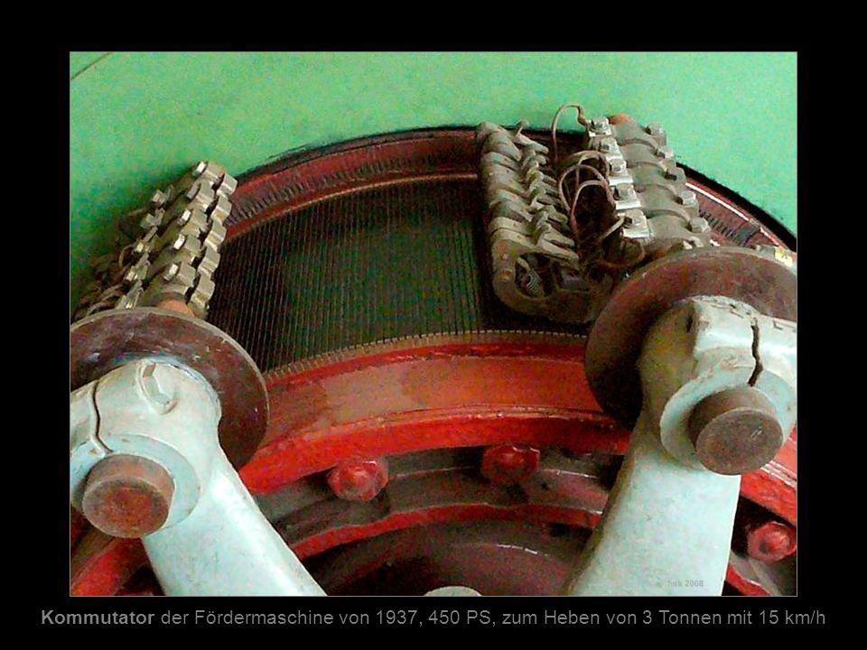 Kommutator der Fördermaschine von 1937, 450 PS, zum Heben von 3 Tonnen mit 15 km/h