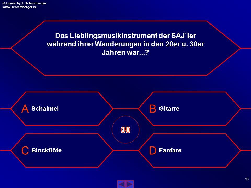 © Layout by T. Schmittberger www.schmittberger.de Layout by T. Schmittberger www.schmittberger.de A C B D 12 Was ist auf der Fahne der ehem. DDR zu se