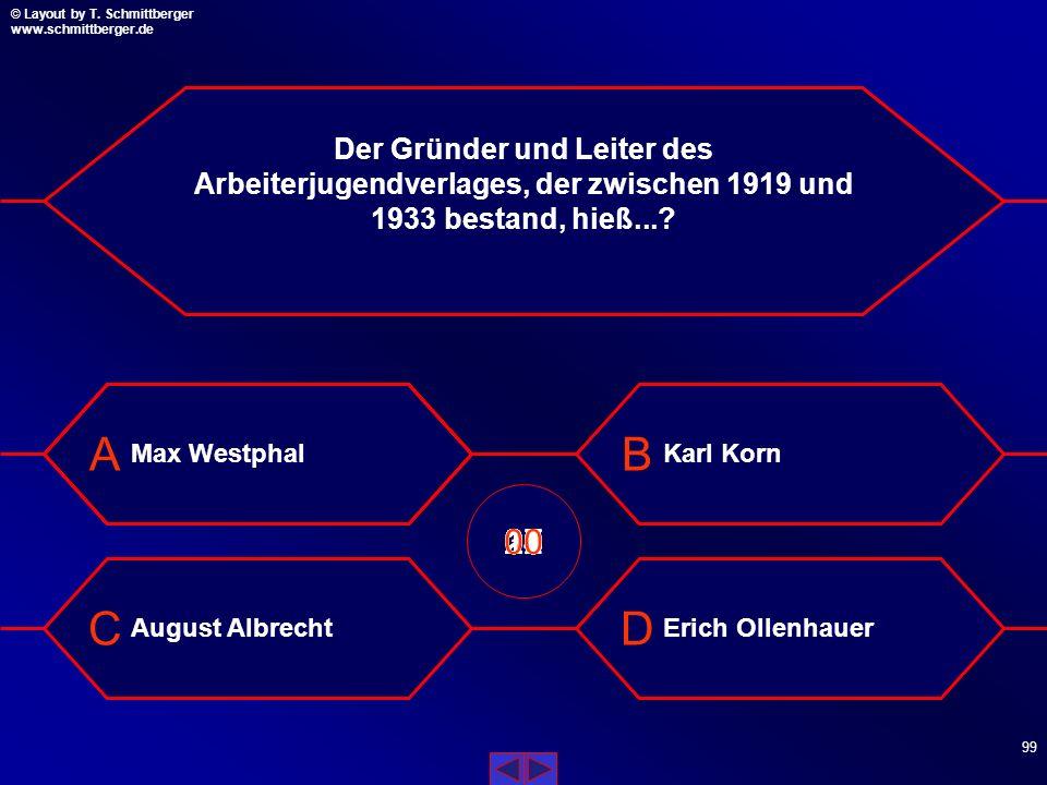 © Layout by T. Schmittberger www.schmittberger.de Layout by T. Schmittberger www.schmittberger.de A C B D 98 1957 verlegte der Verband der SJD-Die Fal