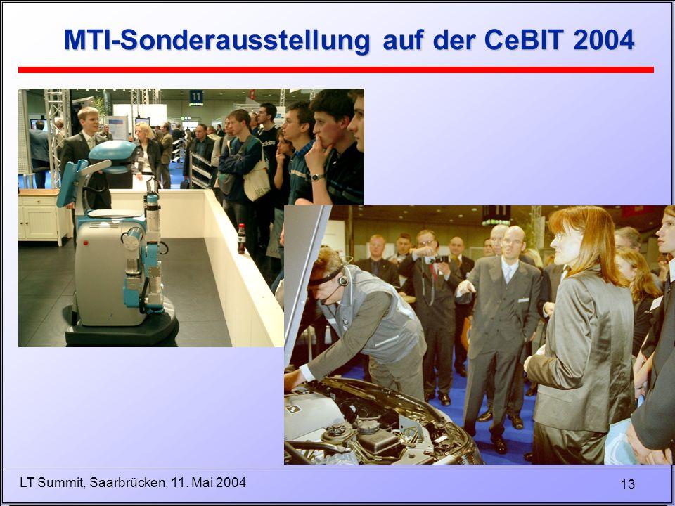 13 LT Summit, Saarbrücken, 11. Mai 2004 MTI-Sonderausstellung auf der CeBIT 2004