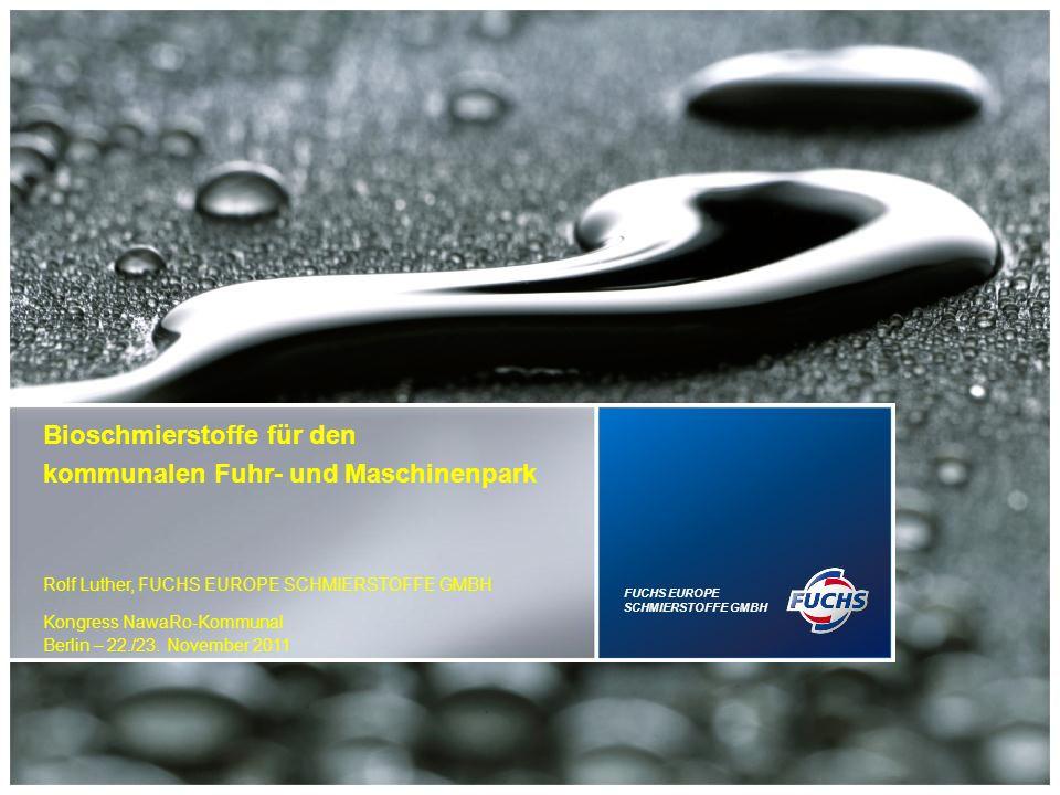 Der Schmierstoffabsatz in Deutschland liegt bei etwa 1 Mio.