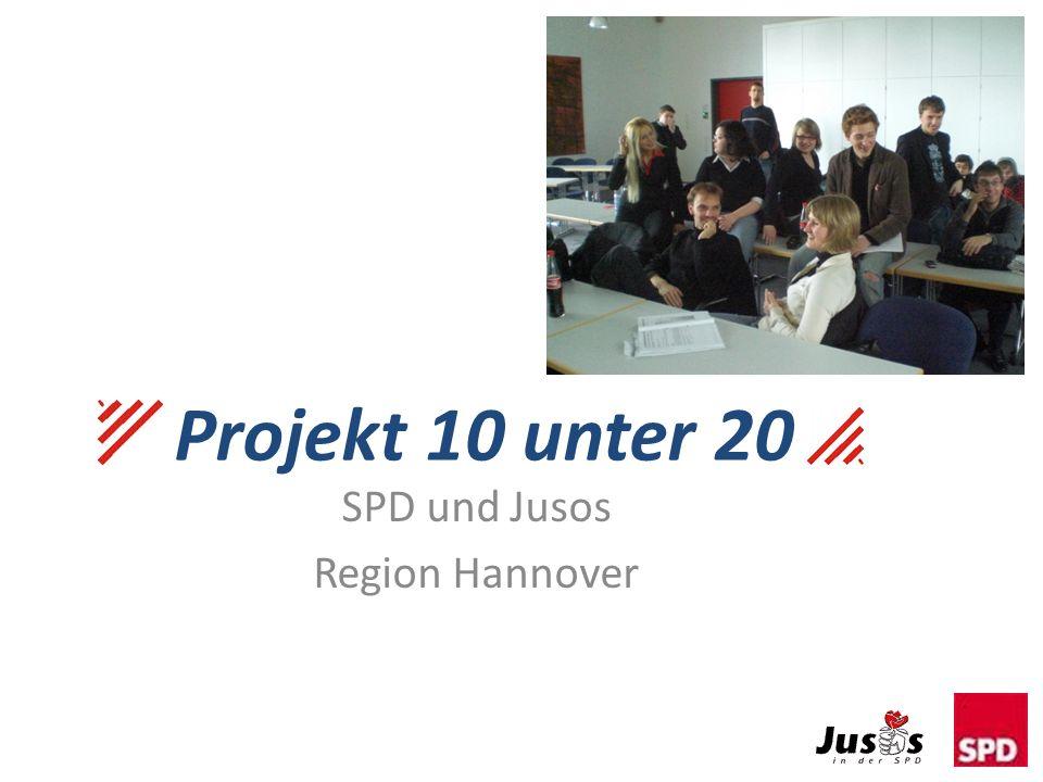 Projekt 10 unter 20 SPD und Jusos Region Hannover