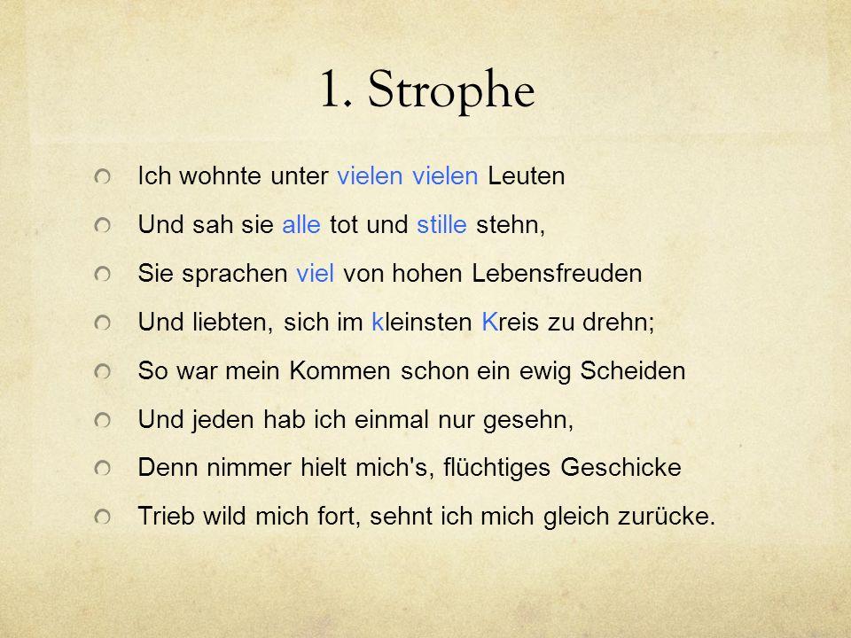 Vierte und fünfte Strophe
