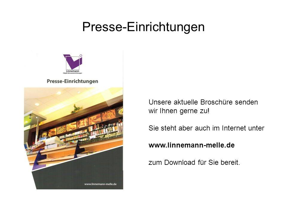 Presse-Einrichtungen Unsere aktuelle Broschüre senden wir Ihnen gerne zu! Sie steht aber auch im Internet unter www.linnemann-melle.de zum Download fü