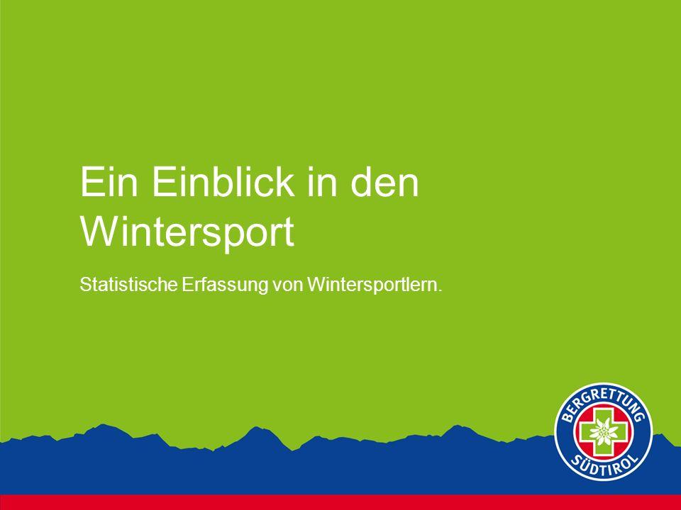 Ein Einblick in den Wintersport Statistische Erfassung von Wintersportlern.