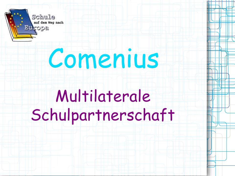 Info: Comenius Das Comeniuspro- gramm ist ein Programm der EU zur Förderung der Zusammenarbeit von Schulen und der Mobilität von Schülern und Lehrern in der EU.