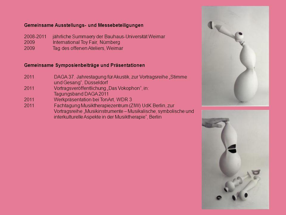 Gemeinsame Ausstellungs- und Messebeteiligungen 2008-2011 jährliche Summaery der Bauhaus-Universität Weimar 2009 International Toy Fair, Nürnberg 2009