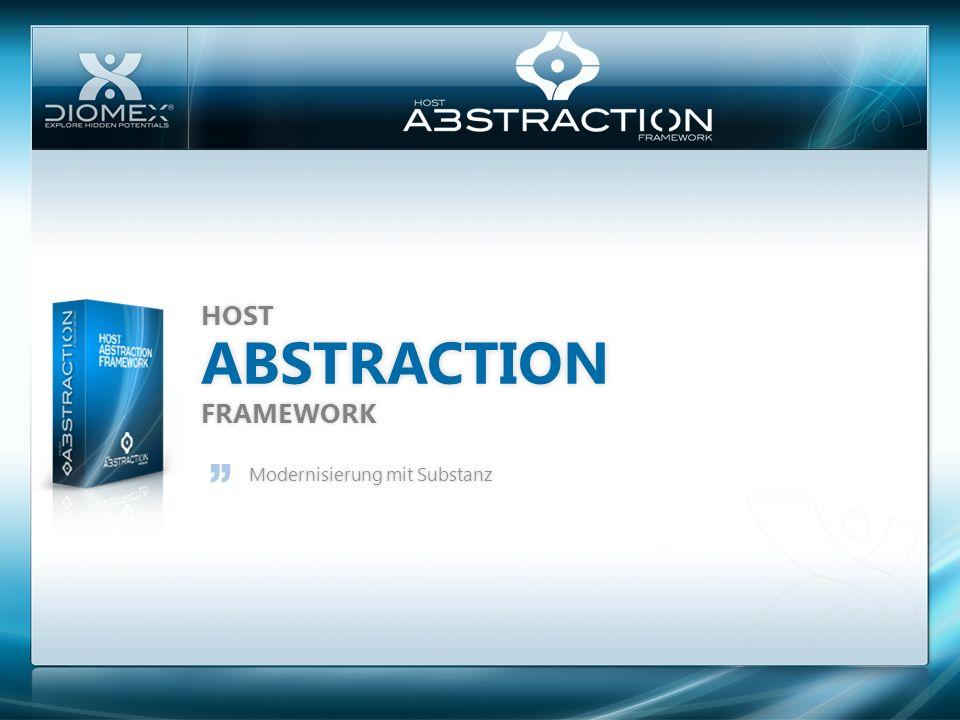 ABSTRACTION HOST FRAMEWORK Modernisierung mit SubstanzModernisierung mit Substanz