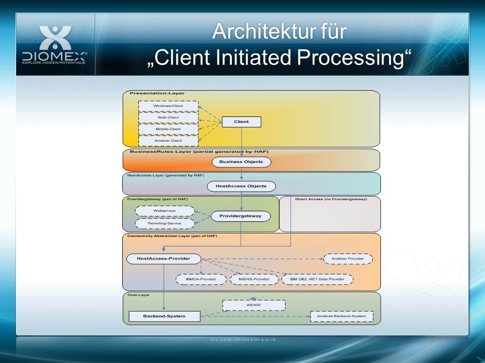 Architektur für Client Initiated Processing (c) by Diomex Software GmbH & Co. KG