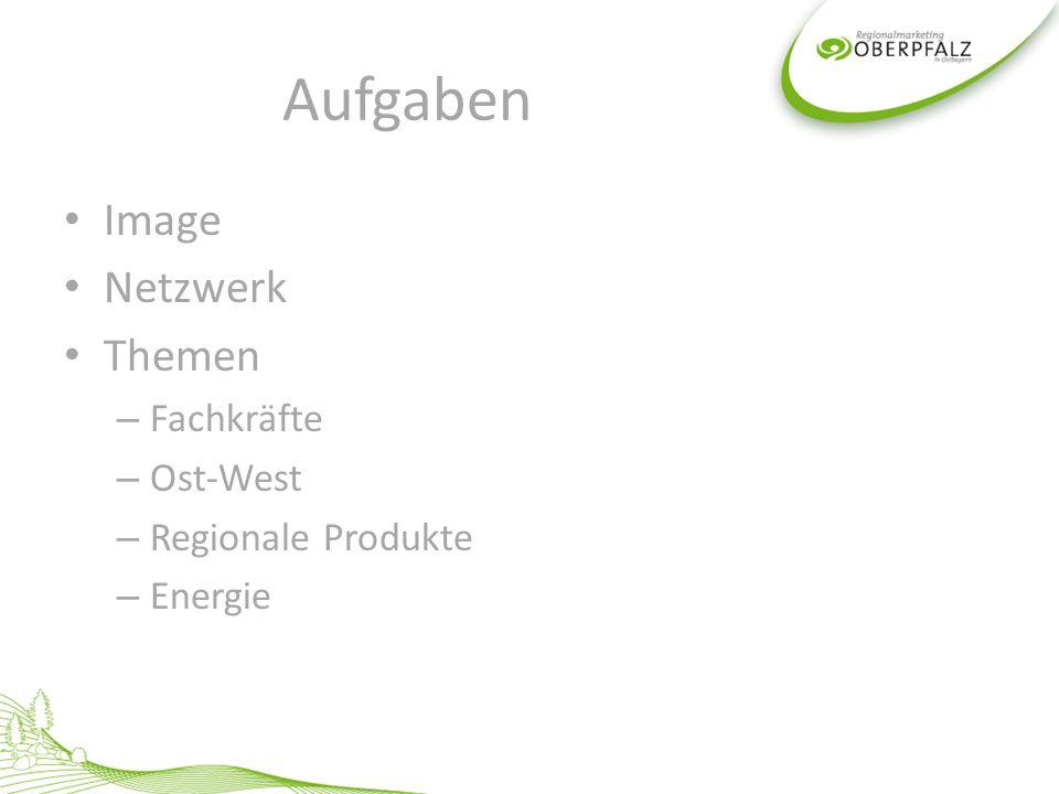 Aufgaben Image Netzwerk Themen – Fachkräfte – Ost-West – Regionale Produkte – Energie