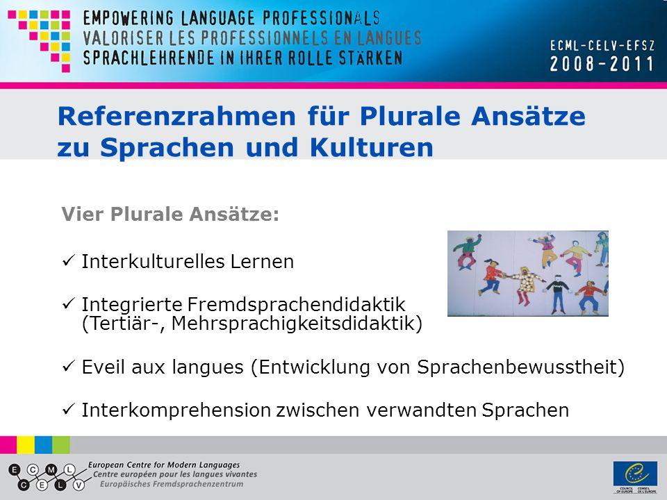 Referenzrahmen für Plurale Ansätze zu Sprachen und Kulturen Vier Plurale Ansätze: Interkulturelles Lernen Integrierte Fremdsprachendidaktik (Tertiär-,