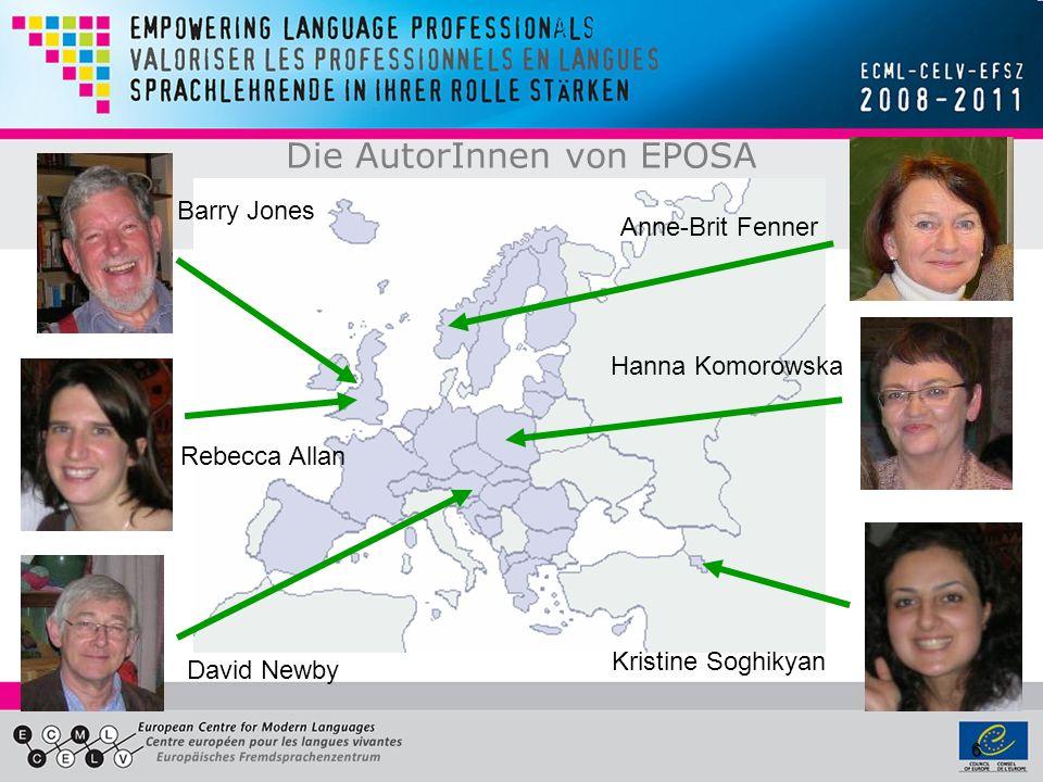 6 Die AutorInnen von EPOSA Barry Jones Rebecca Allan David Newby Anne-Brit Fenner Hanna Komorowska Kristine Soghikyan