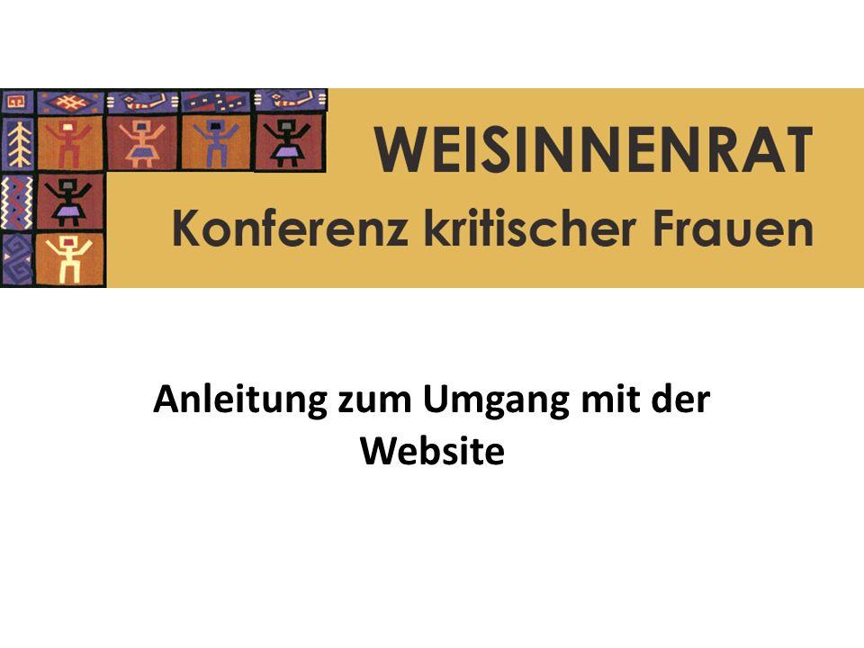 Anleitung zum Umgang mit der Website